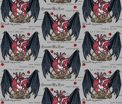 Gothici passionis fabric by glanoramay on Spoonflower - custom fabric
