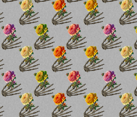 Posey Bones fabric by glanoramay on Spoonflower - custom fabric