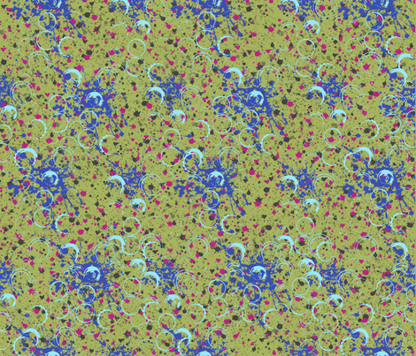 SplatterChartruse fabric by catail_designs on Spoonflower - custom fabric