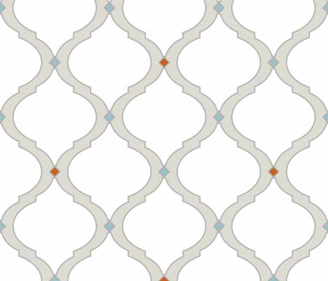 Mediterranean Lattice Modern fabric by danielleonfire on Spoonflower - custom fabric