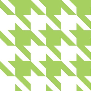 Jumbo Houndstooth Granny Smith Green