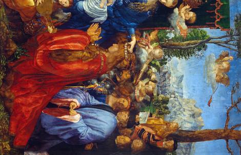 Albrecht Dürer - Feast of the Rose Garlands - 2 yards repeat