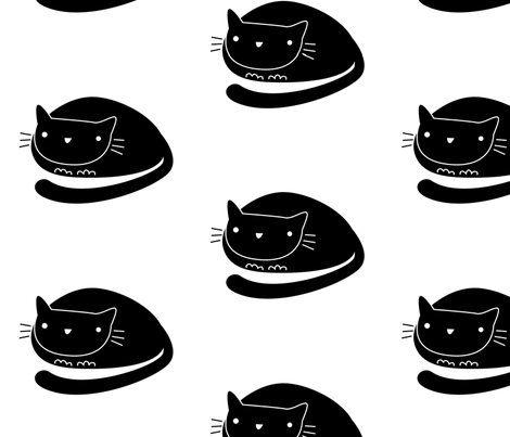 cat2 fabric by elinvanegmond on Spoonflower - custom fabric