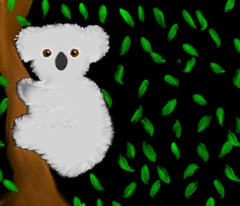 Koala fabric by gomergrl on Spoonflower - custom fabric