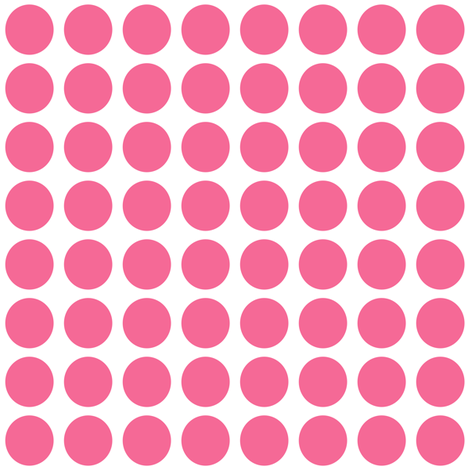 Pink Dots 1 inch fabric by lesfleursdemimi on Spoonflower - custom fabric
