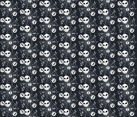 Skellington Skulls fabric by makersway on Spoonflower - custom fabric