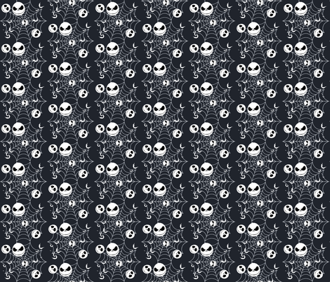 Jack with bats & webs fabric by makersway on Spoonflower - custom fabric