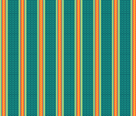 Believe_stripe_emerald fabric by mindsthatcreate on Spoonflower - custom fabric