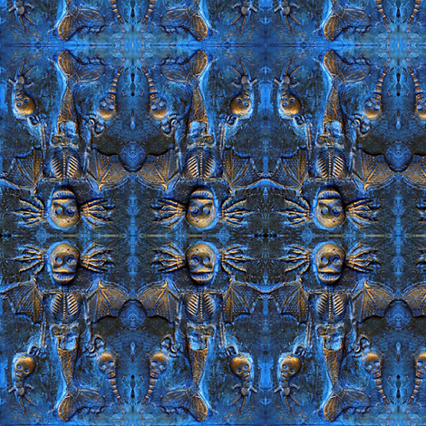 Blue Mermaid Demon fabric by smwilde on Spoonflower - custom fabric