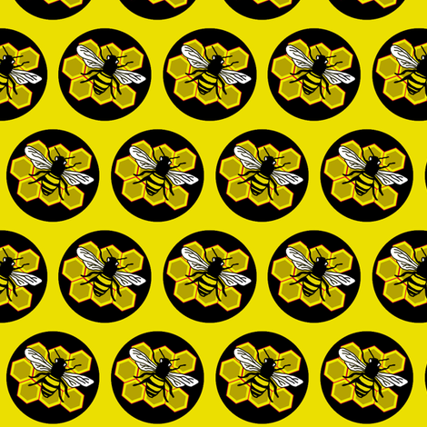 Bees fabric by smwilde on Spoonflower - custom fabric