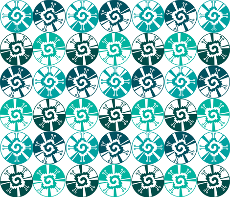 AZTEC WHEELS fabric by bluevelvet on Spoonflower - custom fabric