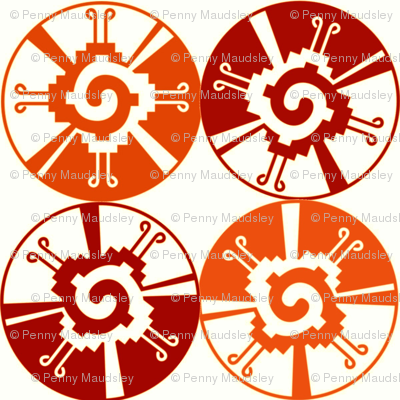BURNT ORANGE AZTEC WHEELS