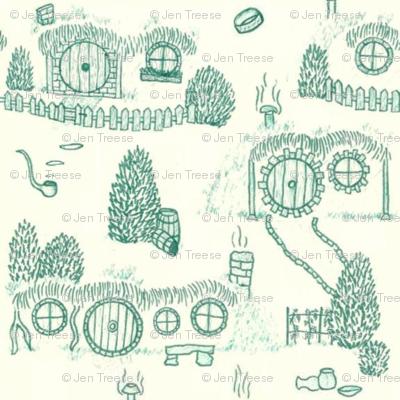 Green Shire Toile