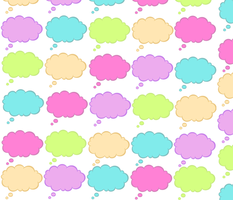 I'm Thinking... fabric by musicaldesigner on Spoonflower - custom fabric