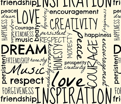 Words To Live By fabric by musicaldesigner on Spoonflower - custom fabric