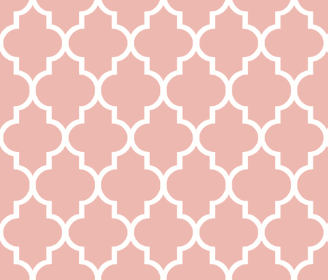 Sherbet in Summer Coral Ogee fabric by sparrowsong on Spoonflower - custom fabric