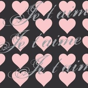 Je t'aime (I Love You) Pink Hearts