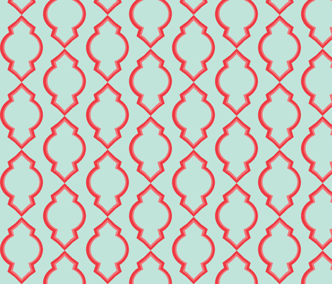 Moroccan Seafoam Uneven fabric by megancarn on Spoonflower - custom fabric