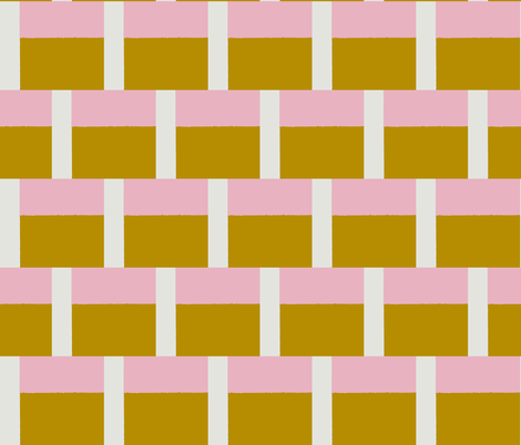 Neapolitan Ice Cream, Pink, Ochre & Putty fabric by susaninparis on Spoonflower - custom fabric