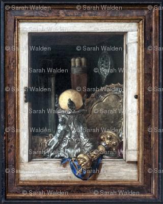 Gijsbrechts ~ Silverware In An Open Cabinet