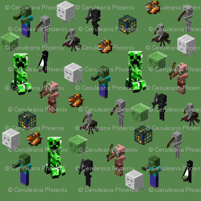 minecraft_monsters-green
