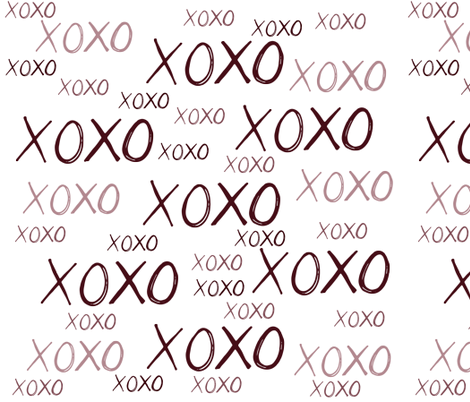 XOXO fabric by peacefuldreams on Spoonflower - custom fabric