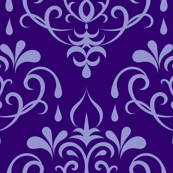 damask small - purple