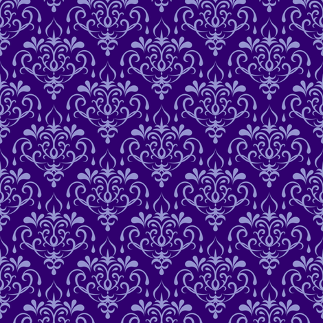 damask small - purple fabric by ravynka on Spoonflower - custom fabric