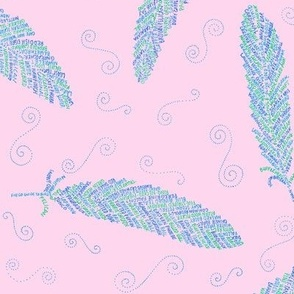 birds of a feather (pale pink)