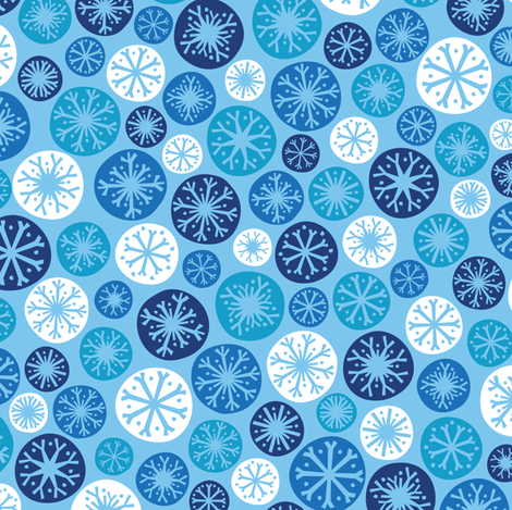 Snow Daze (Light) fabric by robyriker on Spoonflower - custom fabric