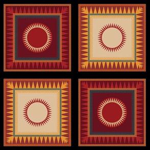 Victorian Geometric Sun Pattern