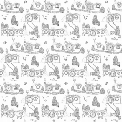 Grey Shire Toile fabric by spikymammal on Spoonflower - custom fabric