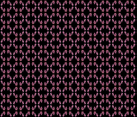 Autumn pink blackberry leaves in wreaths fabric by yomarie on Spoonflower - custom fabric