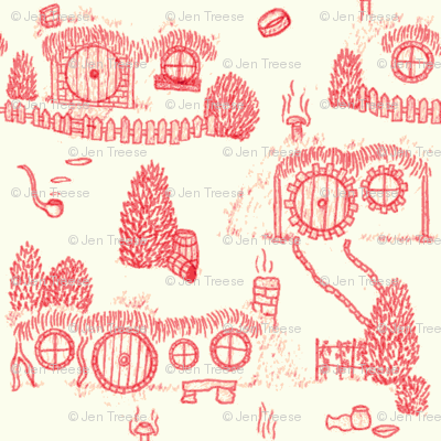 Red Shire Toile