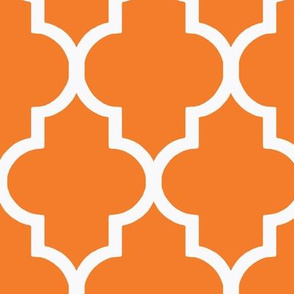 Tangerine Quatrefoil