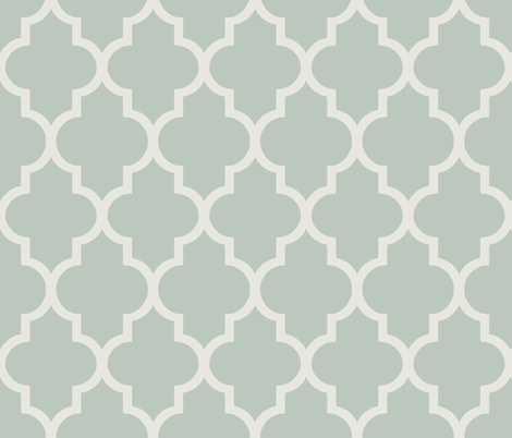 Classic Ogee in Perfect French Gray-Green fabric by willowlanetextiles on Spoonflower - custom fabric
