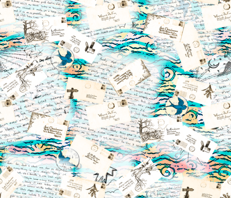 Love is in the air mail fabric by keweenawchris on Spoonflower - custom fabric