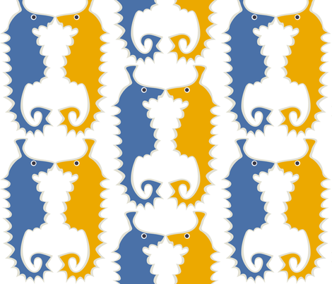 Seahorse_blue fabric by antoniamanda on Spoonflower - custom fabric
