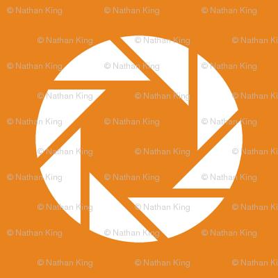 White on Orange Aperture Portal