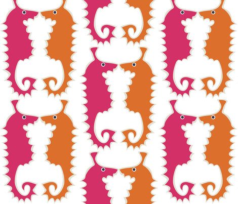 Seahorse_pink fabric by antoniamanda on Spoonflower - custom fabric