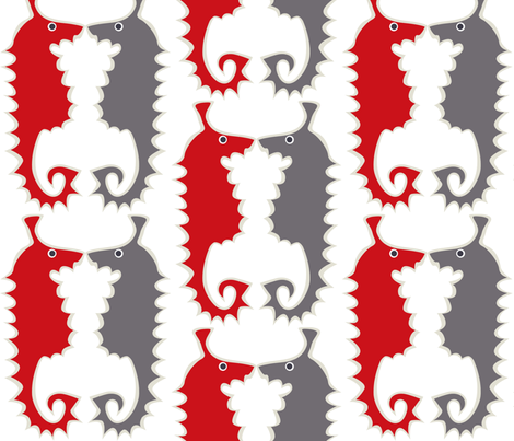 Seahorse_red fabric by antoniamanda on Spoonflower - custom fabric