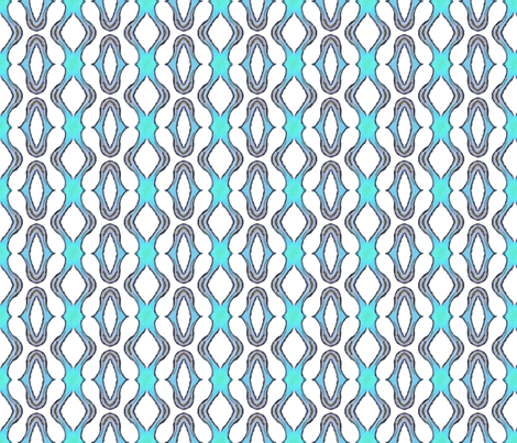 Block Print 2 - blue - ovals fabric by koalalady on Spoonflower - custom fabric