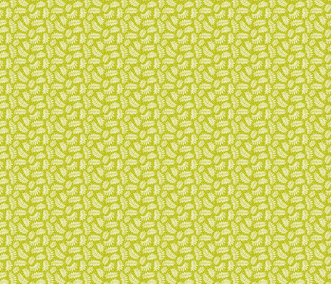 Small leaf branches green fabric by cjldesigns on Spoonflower - custom fabric