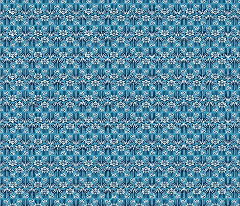 Japanese combs blue fabric by cjldesigns on Spoonflower - custom fabric