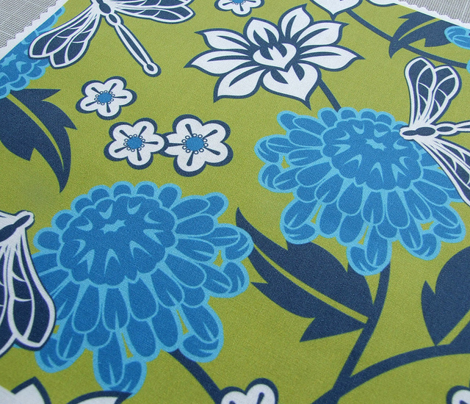 Japanese large floral green