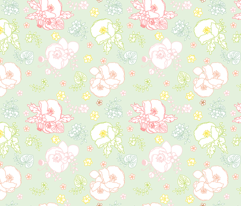 Garden Green fabric by curious_nook on Spoonflower - custom fabric