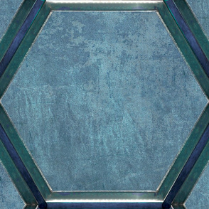 Dalek Spacecraft Walls blue