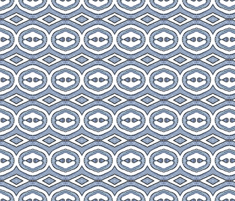 Block Print 5 - blue grey - diamond fabric by koalalady on Spoonflower - custom fabric