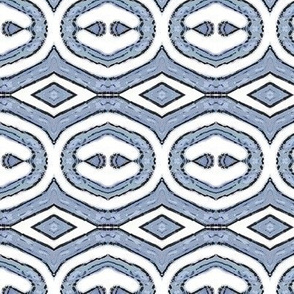 Block Print 5 - blue grey - diamond