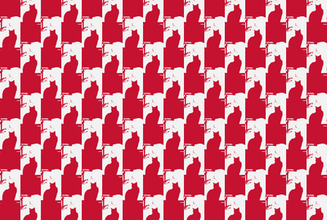 Winter Window-Red fabric by krussimages on Spoonflower - custom fabric